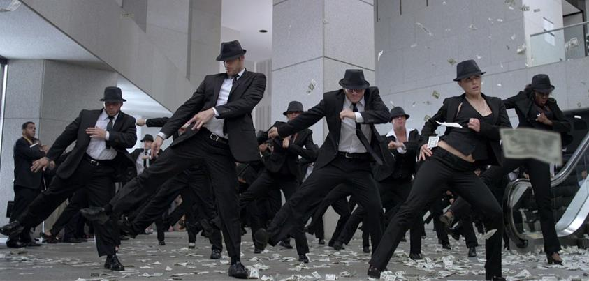 Flash mob scene from Step Up Revolution