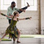 "Wonderbound dance artists Sarah Tallman and Damien Patterson rehearse for ""Gone West."" (Photo: Amanda Tipton)"