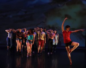 Safe and Sound by Justin Boiccitto. Caitlin Evans and dancers. (Photo: Jessica Fallon Gordon)