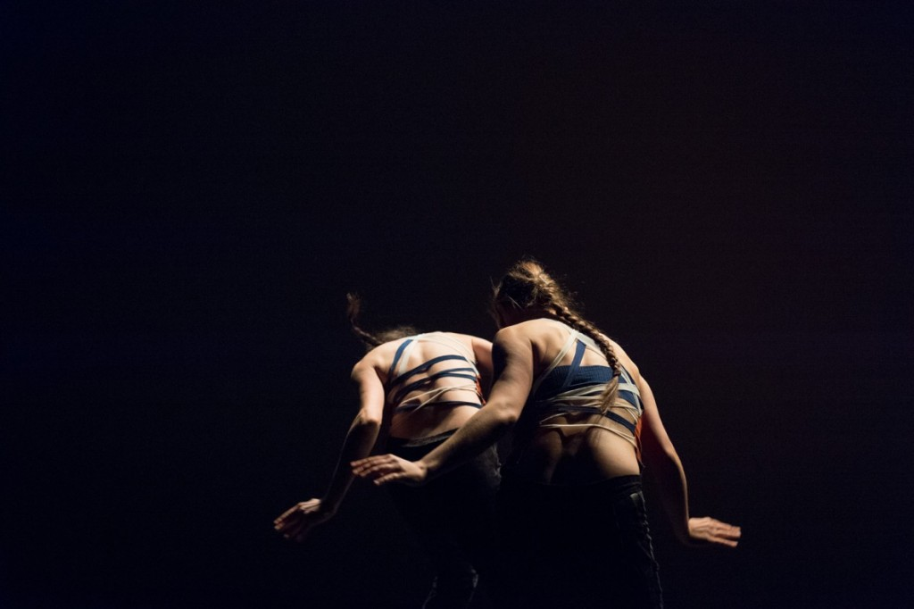 "Eloise DeLuca and Nicole Von Arx in ""Doubling (excerpt)"" by Loni Landon. Photo by Corey Melton."