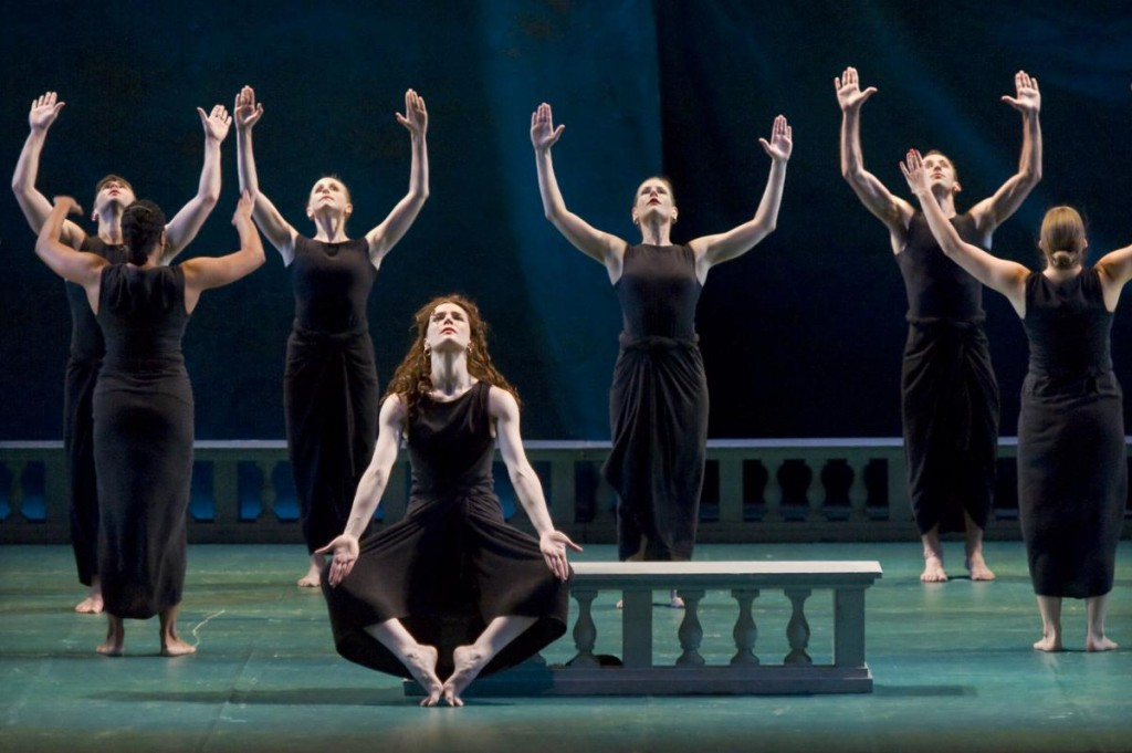 "Dancers with Mark Morris Dance Group perform PurcellÕs opera ""Dido and Aeneas"" at the Irvine Barclay Theatre in Irvine on Friday. Photo by Joshua Sudock Picture made at the Irvine Barclay Theatre in Irvine on Friday, May 15, 2015."