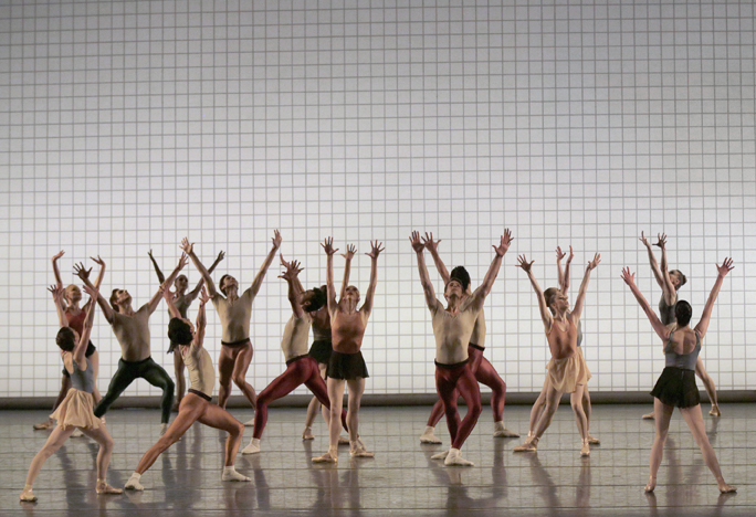 The Company in Jerome Robbins' Glass Pieces Photo Credit: Paul Kolnik