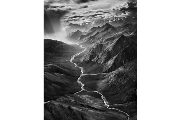 Sebastião Salgado, The eastern part of the Brooks Range, which rises to over 3,000 meters (9,800 ft.), The Arctic National Wildlife Refuge, Alaska, USA, 2009. © Sebastião Salgado/Amazonas images