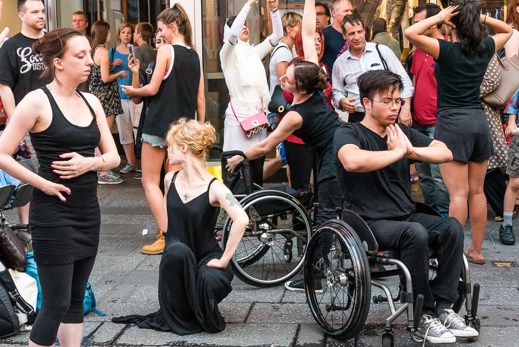Heidi Latsky Dance in On Display at Times SquarePhoto by Darial Sneed